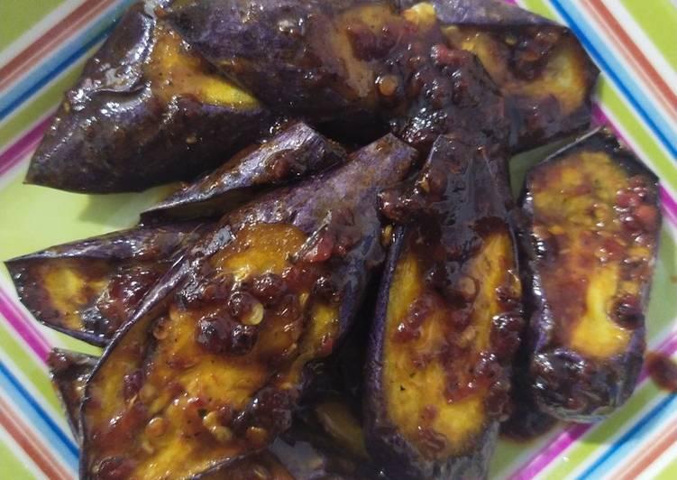 Terong Masak Kecap dengan Bumbu Xiangchun (vegan)