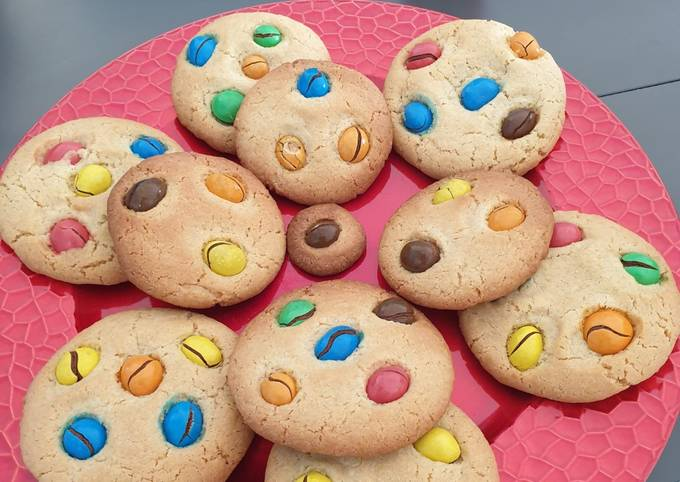 Cookies gourmands m&m's