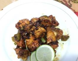 Ayam lada hitam mudah (ayam kecap lada hitam)