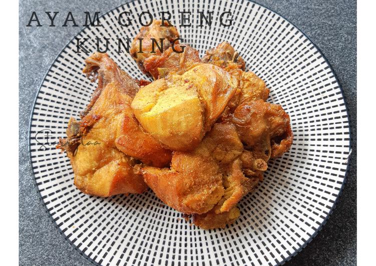 Resep Ayam Goreng Kuning, Bikin Ngiler