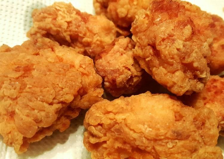 KFC style chicken popcorn😍 Recipe