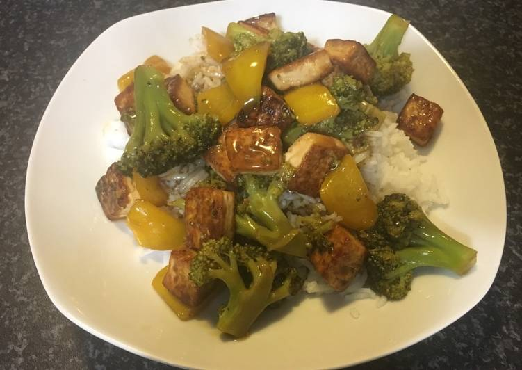 Recipe of Award-winning Cauliflower and tofu with basmati rice