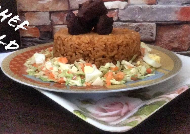 Beef Jollof rice with coleslaw, Coconut Oil Is Really A Wonderful Product And Can Also Be Beneficial For Your Health