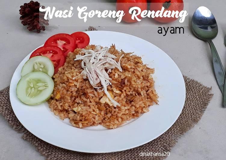 resep cara bikin Nasi Goreng Rendang Ayam