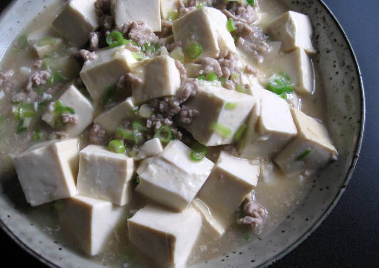 Recipe of Any-night-of-the-week White Mabo Dofu Japanese Style