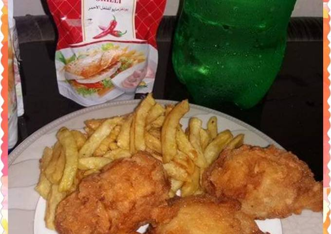 Chicken Broast With French Fries