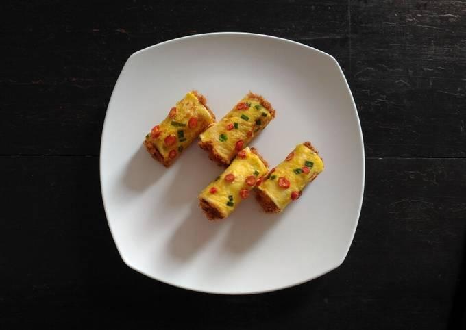Roti Tawar Gulung Abon (Teflon)