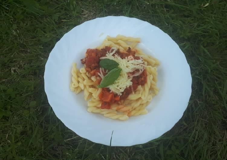 Vegane Pasta alla Bolognese