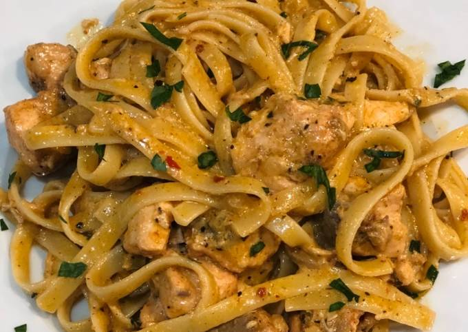 Delicious 30 min Salmon with Pasta