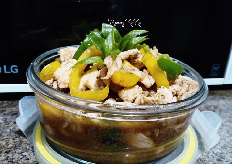 Resep #020 Ayam Paprika Lada Hitam, Menggugah Selera
