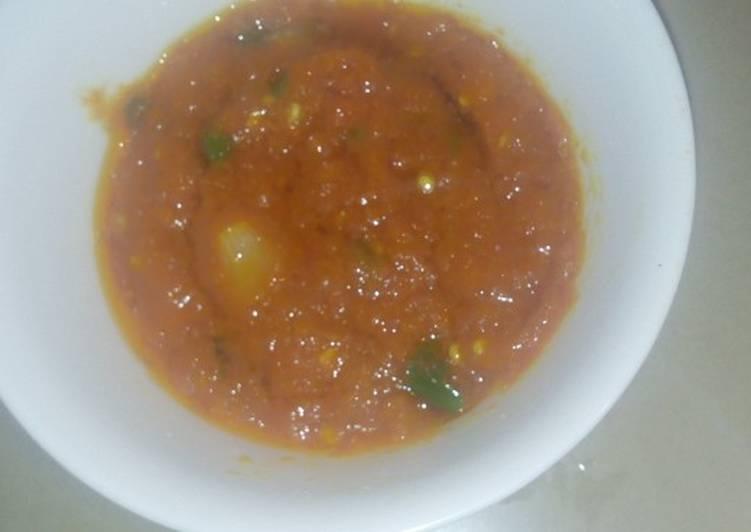 Recipe of Super Quick Homemade Pilipili ya kukaanga