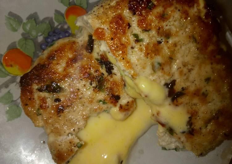 Poulet farci au fromage