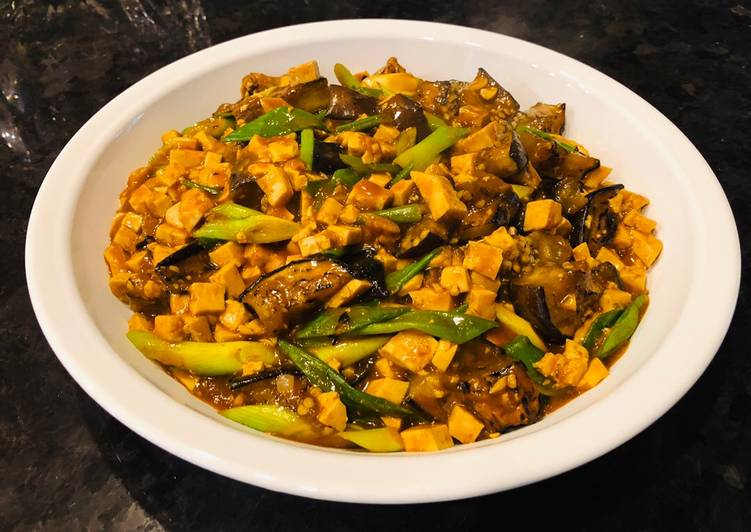 Easiest Way to Cook Perfect Spicy Eggplant Mapo Tofu (un-stir fried Eggplant and Tofu)