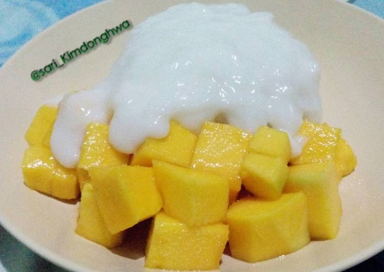 Mangga Sticky Rice #Bandung_recookwidyanaura