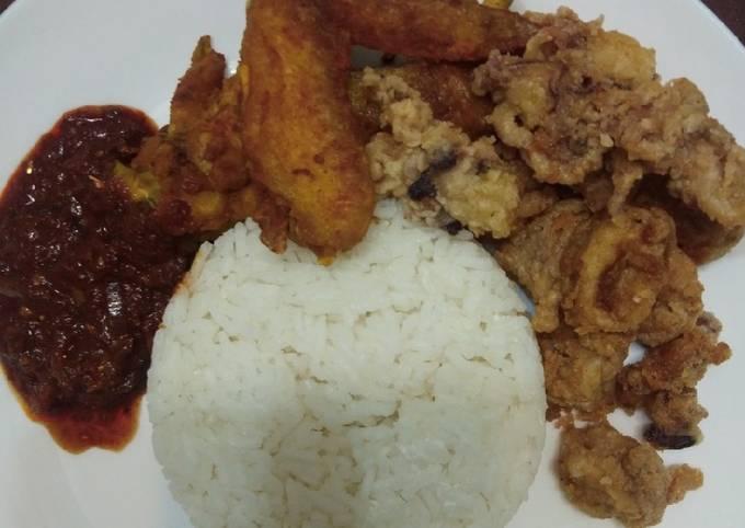 Nasi lemak resepi mak