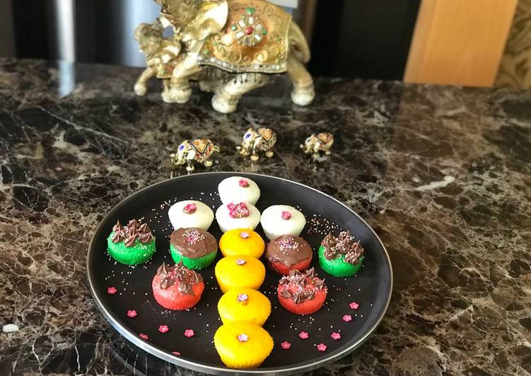 Step-by-Step Guide to Make Speedy # Rainbow 🌈 cakes # Rainbow contest  # Day 4 # 11/6/18 Rice flour rainbow cakes