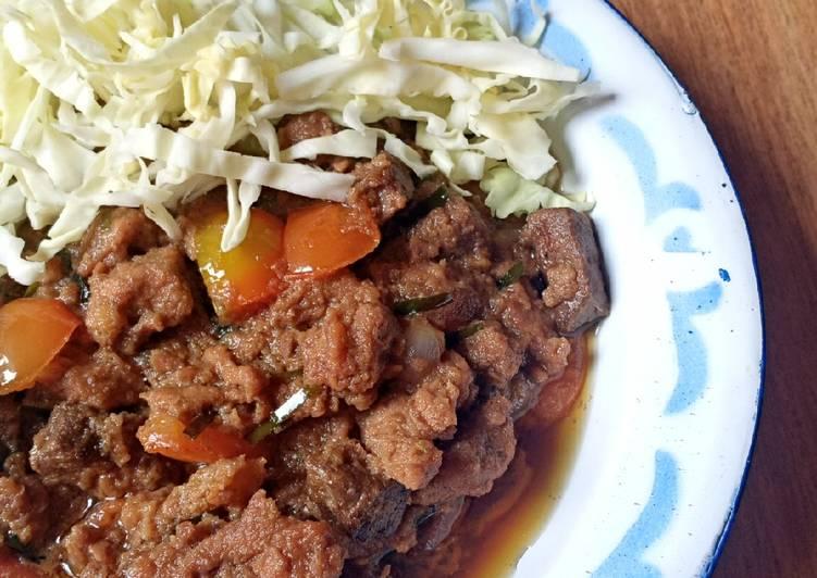 Oseng daging/sate goreng