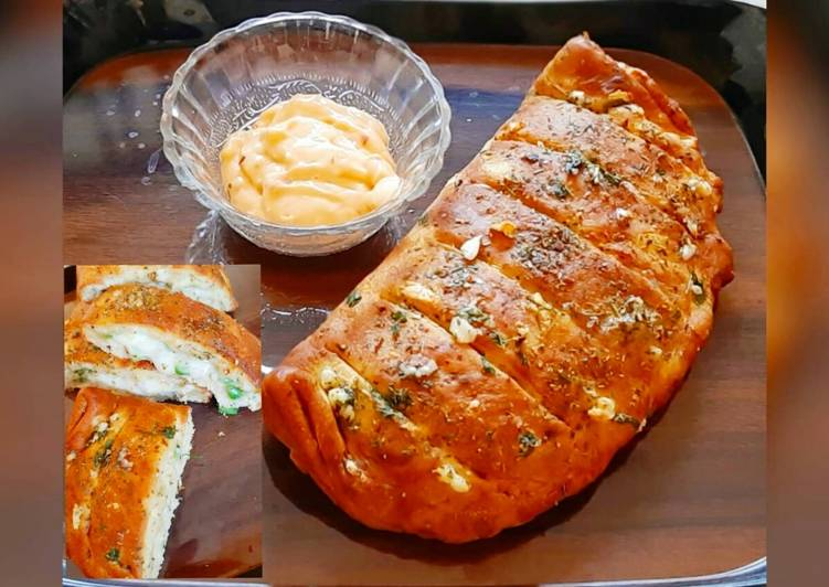 Easiest Way to Make Quick Cheese garlic bread (without yeast)