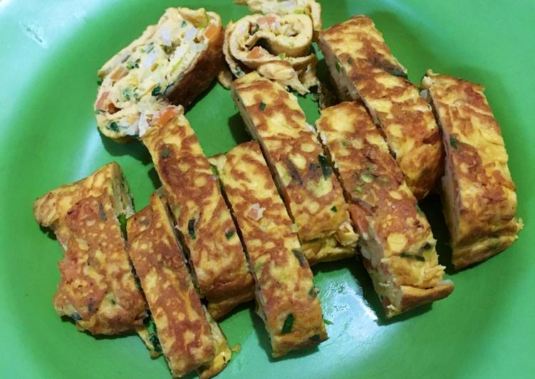 Telur Gulung Korea (Gyeran Mari) Korean Egg Roll