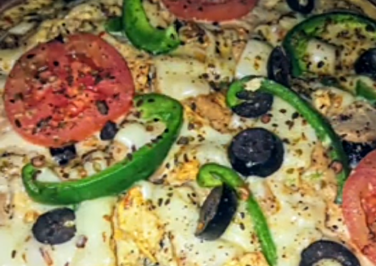 Recipe of Any-night-of-the-week Maxican pizza omelette