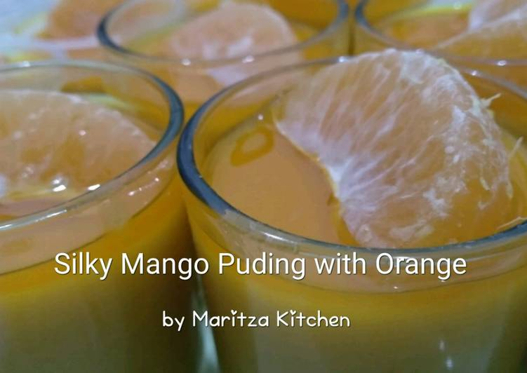 Silky Mango Puding with Orange