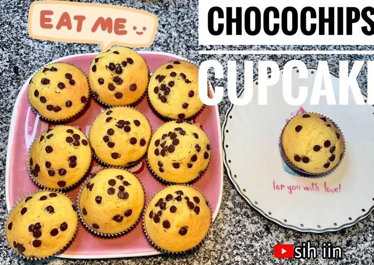 Resep Chocochips Cupcake mudah dan enak tanpa mixer