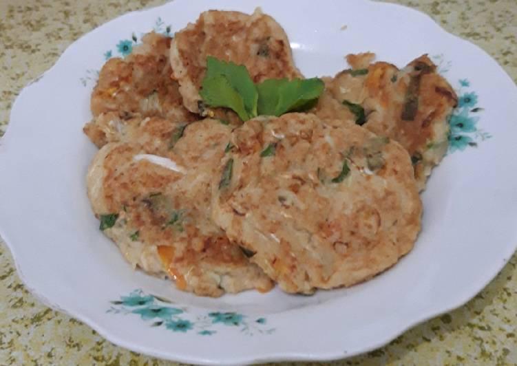 Bakwan Oat (Cemilan sehat, rendah kalori)