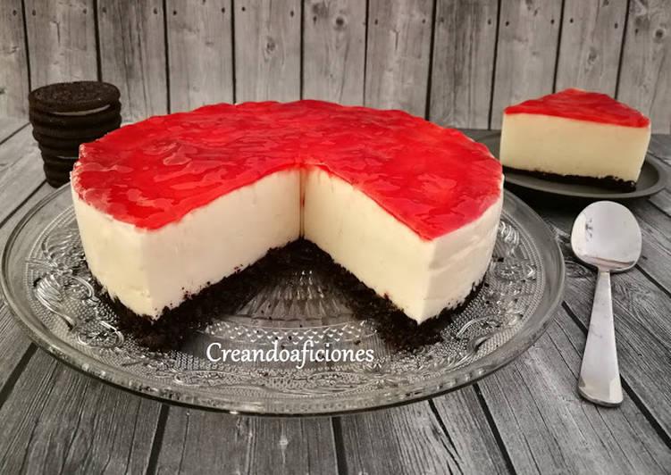 Cheesecake Fría Sin Horno Receta De Creandoaficiones Susana Sg Cookpad