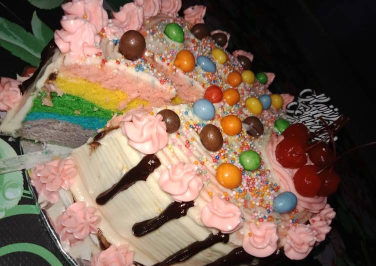 Resep Kue tart rainbow cake Paling dicari