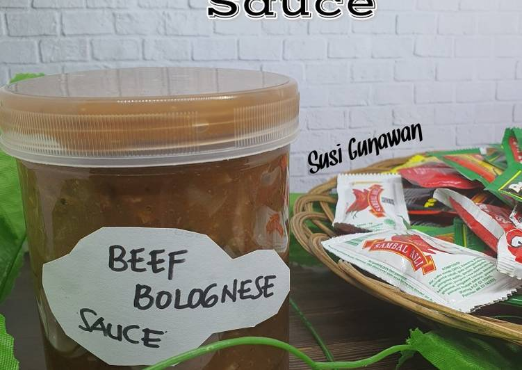 Homemade Beef Bolognese Sauce