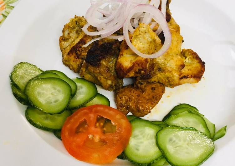 25 Minute Steps to Make Autumn Chicken tawa kabab