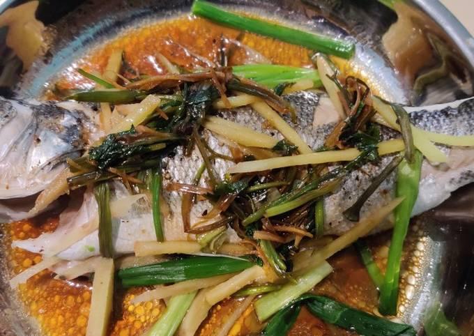 Cantonese Steamed Whole Sea Bass