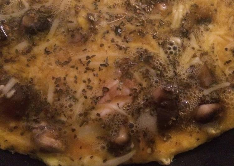 Omelette champignons lardons 🍳