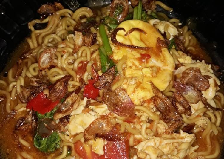 Resep Indomie goreng nyemek Paling Gampang