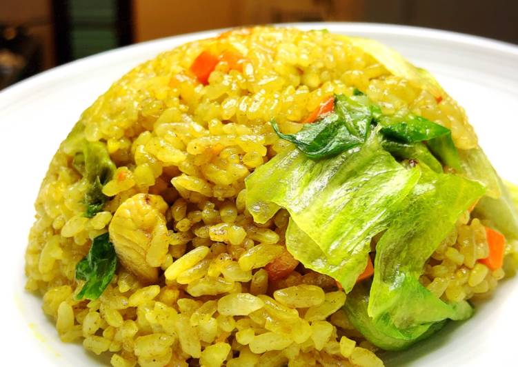 Spicy fried rice with lettuce 🥬