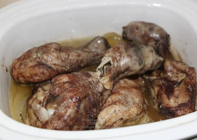 Recipe: Delicious Chicken with Barbecue Salt and Five Spices in Slow Cooker