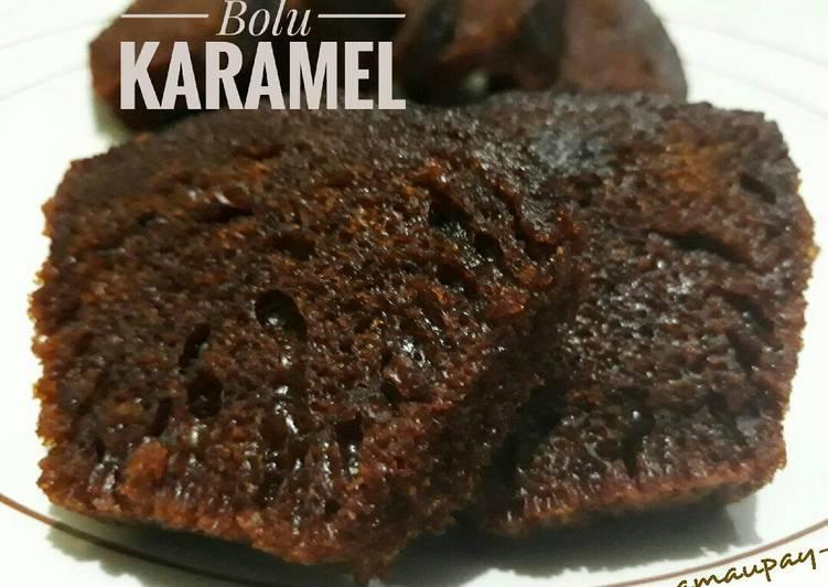 resep masak Bolu Karamel (Sarang Semut) kukus #pr_kuetradisionalberserat - Sajian Dapur Bunda