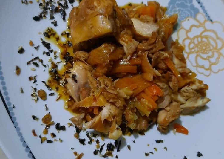 Steamed Chicken carrot