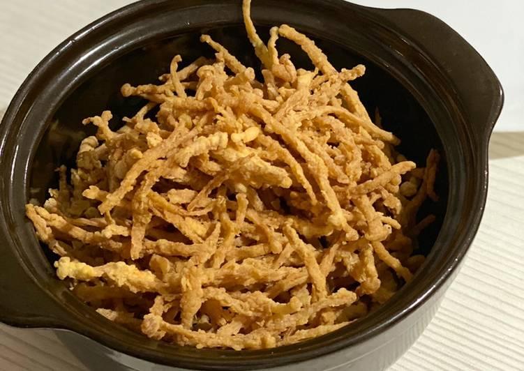 Jamur Enoki goreng crispy - cookandrecipe.com