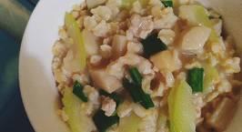 Hình ảnh món Cháo yến mạch nấu thịt băm, bầu và nấm