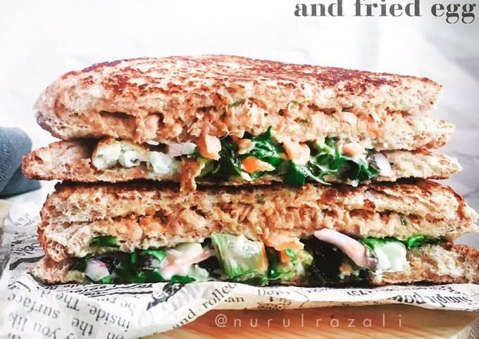 Sandwich Tuna & Salad Coleslaw #phopbylinimohd #task4