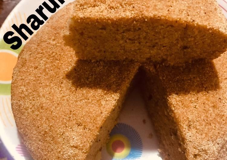 Golden Rava Cake