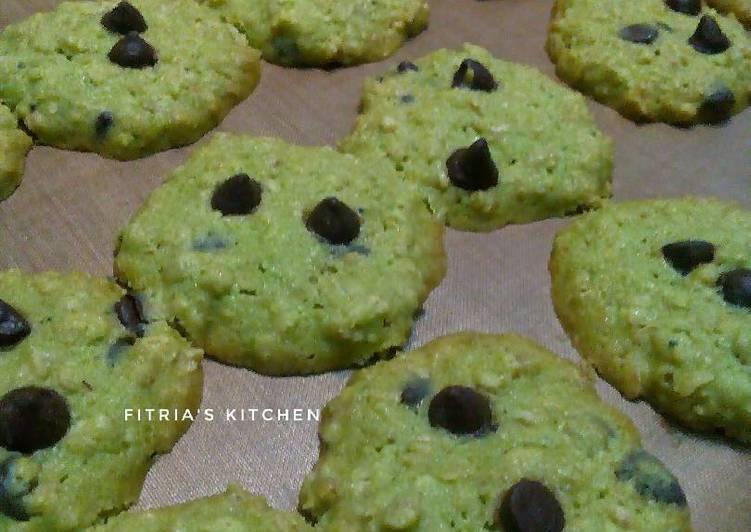 Oatmeal Green Tea-choco chips Cookies