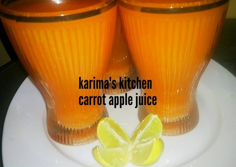 Steps to Make Ultimate Carrot apple juice