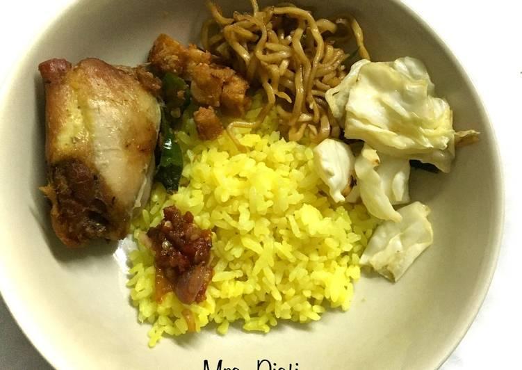 Turmeric Rice-Yellow rice-Nasi kuning rice cooker untuk pemula - cookandrecipe.com