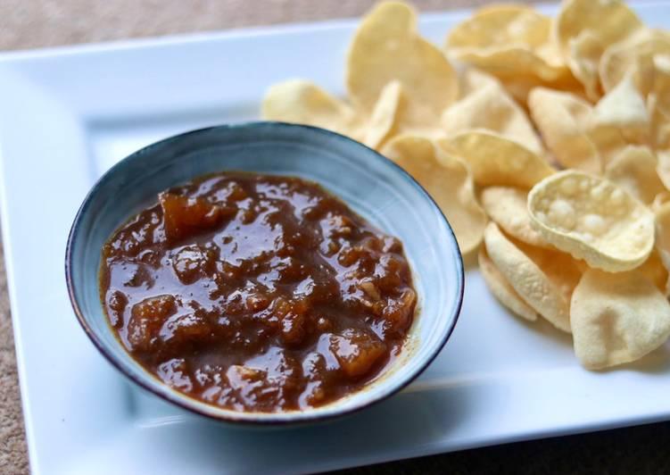 Steps to Make Award-winning Mango and banana peel chutney- slow cook 🥭 🍌 🌶