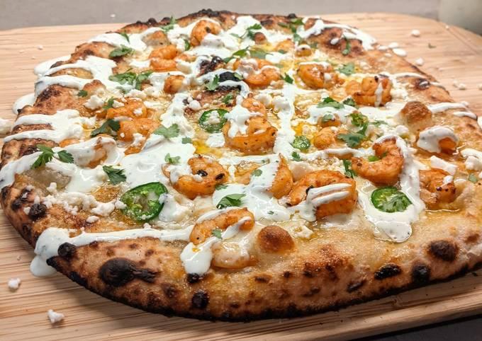 Shrimp Taco Inspired Pizza