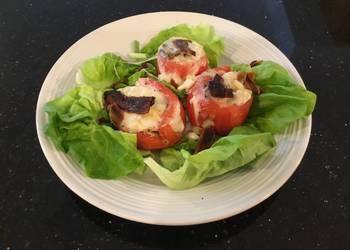 How to Recipe Delicious Turkey and Ham Club Stuffed Tomato