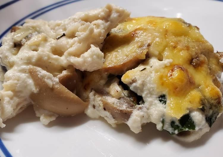 Step-by-Step Guide to Prepare Speedy Chicken Spinach Mushroom Bake