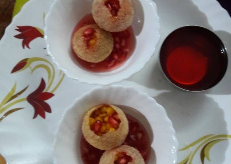 Living Greener for Greater Health By Consuming Superfoods Khatte meethe fruity flavoured golgappe